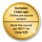 Includes Club Logic FREE online learning + Book this course and get MET1 for only £25