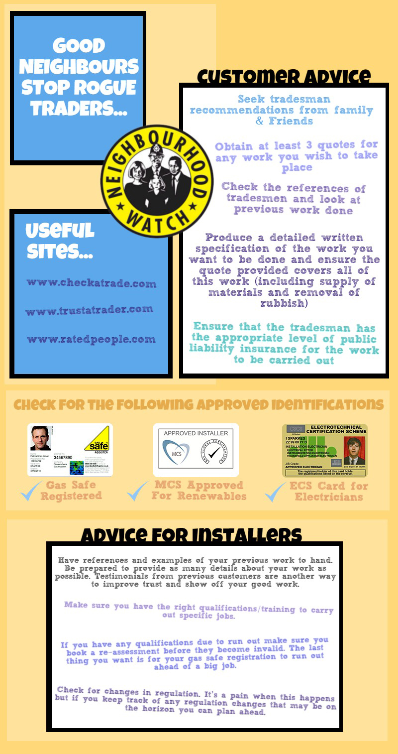 stop rogue traders infographic