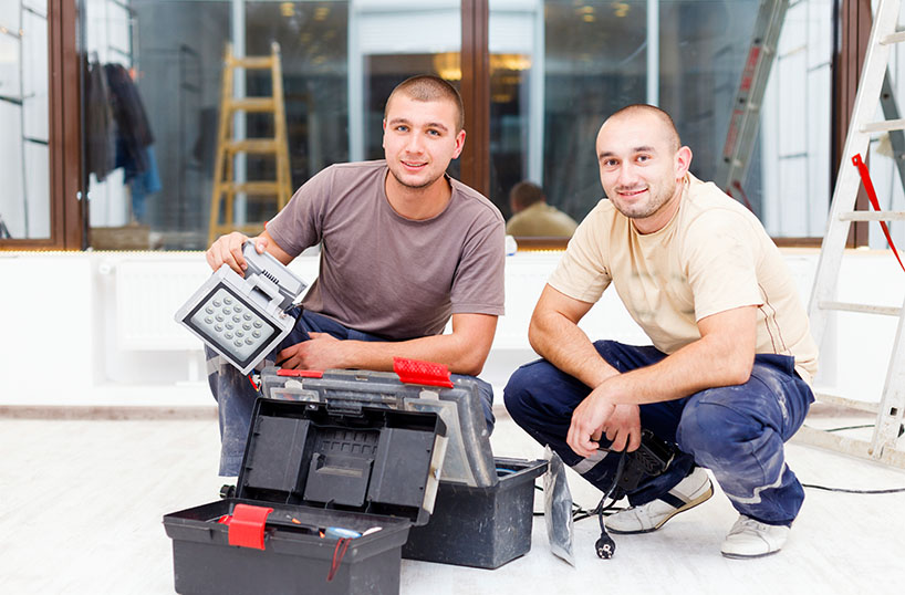 electrician and employee