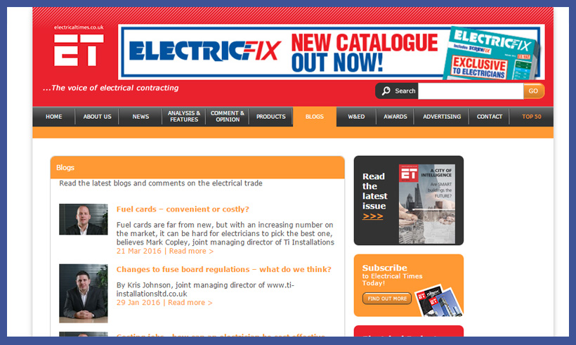 What do you think of Electrical Time's blog?