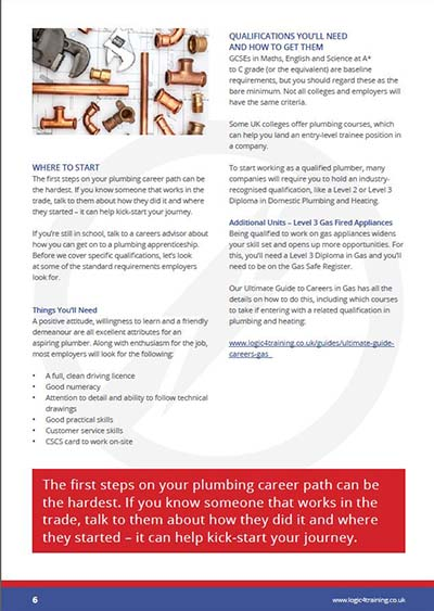 Logic4training Guides: The Ultimate Guide To Plumbing Careers